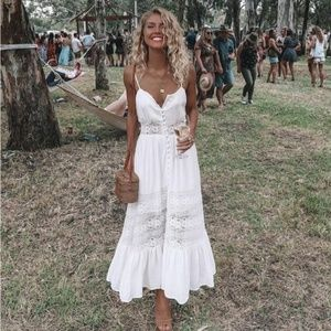 Dresses & Skirts - IN STOCK  White Button Up Cami Dress
